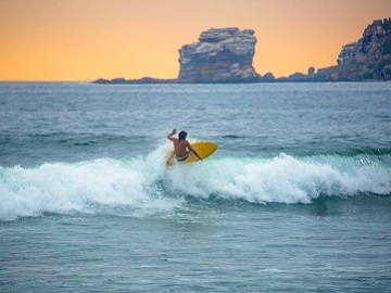 Surfing Ecuador