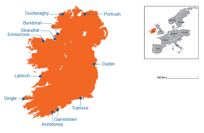 Ireland - Country map image