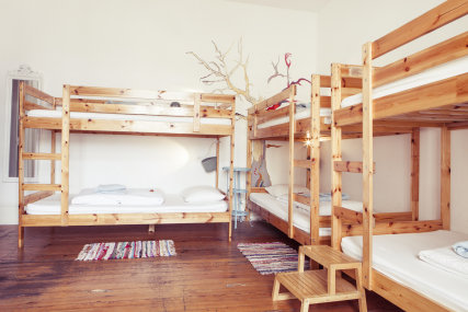8-bed shared dorm